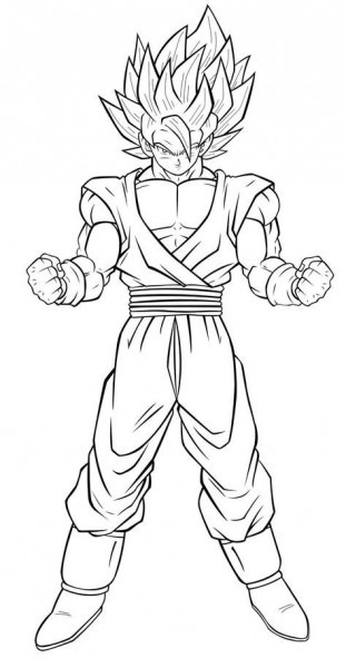Coloriage Dragon Ball Z Sangoku