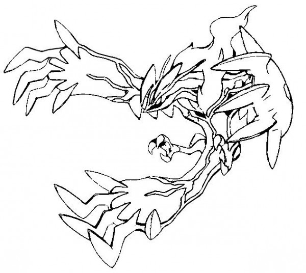 Yveltal Coloring Pages