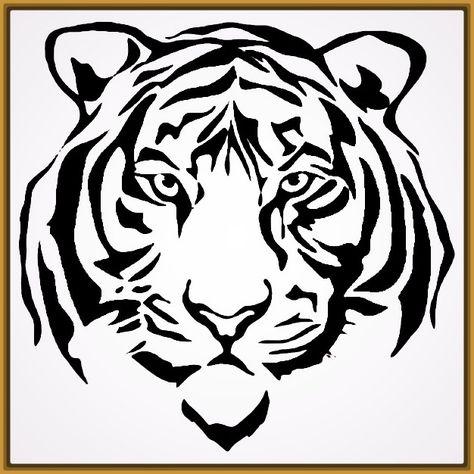 Dibujos De Caras De Tigres Para Colorear