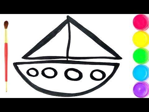 Cómo Dibujar Y Colorear Barco De Arco Iris