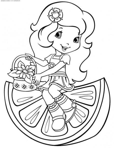 Nenas Y Nenes En Primavera, Dibujos Para Colorear