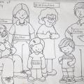 Familia En Ingles Para Colorear