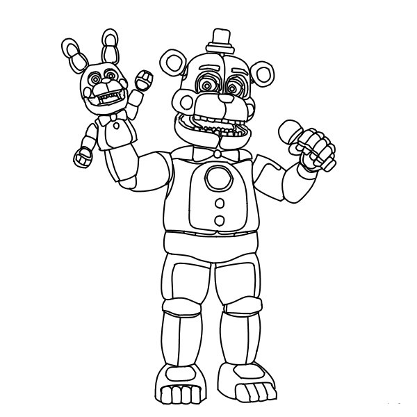 20 Best Ideas Five Nights At Freddy's Sister Location Coloring