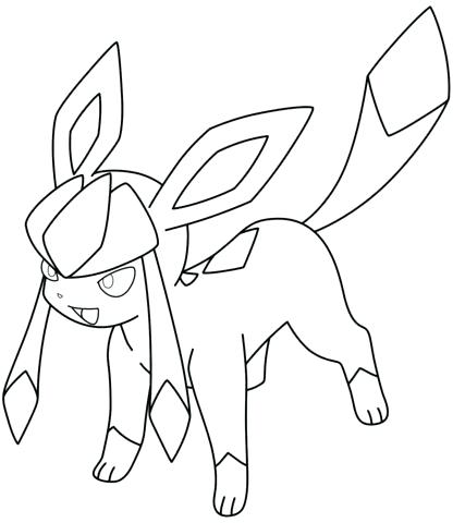 Flareon Pokemon Coloring Pages At Getdrawings Com