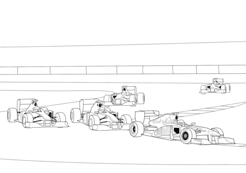Dibujo De Carrera De Fórmula 1 Para Colorear