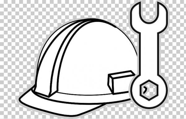 Sombrero Para Colorear Libro, Sombrero De Construcción S Png