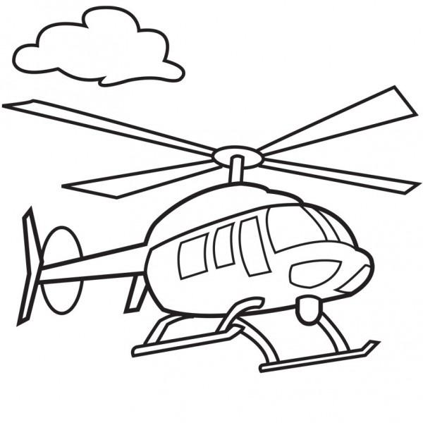 Dibujos De Helicópteros Para Imprimir Y Colorear