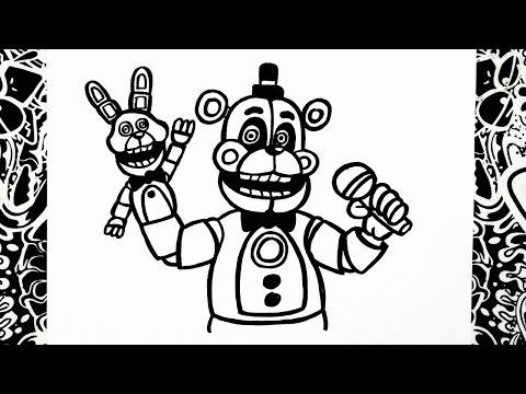 Como Dibujar A Funtime Freddy