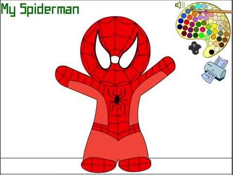 Juego Para Pintar A Spiderman  El Hombre Araña