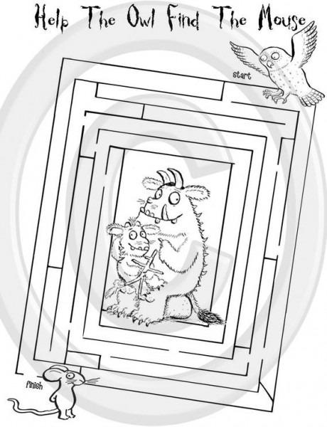 El Gruffalo Imprimible Puzzle Quiz Libro Para Colorear