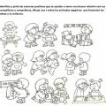 Dibujos De Actitudes Positivas Y Negativas Para Colorear