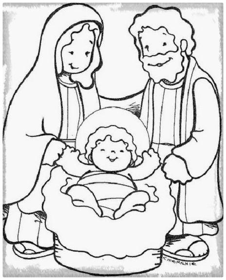 La Familia De Jesus Para Colorear