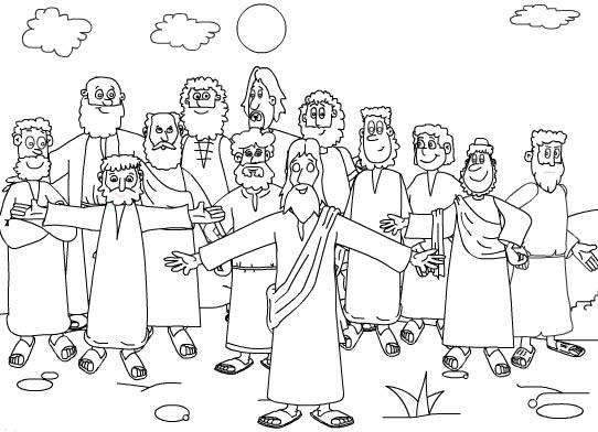 Dibujos Infantiles, Imagenes Cristianas  Dibujo De Los Discipulos
