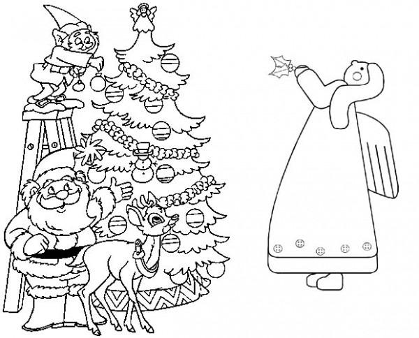 Dibujos De Navidad Para Imprimir Y Colorear En Casa
