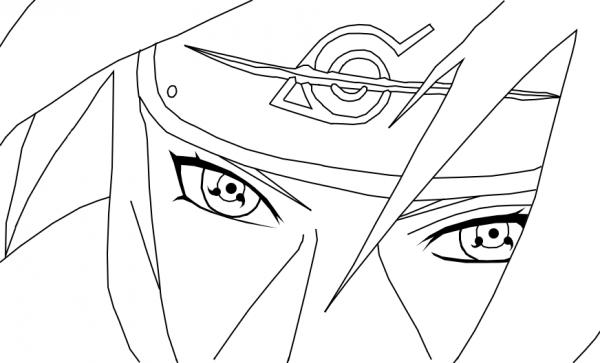 Itachi Uchiha Dibujo Para Colorear