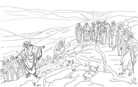 Dibujo De Jesús Elige Doce Discípulos Para Colorear