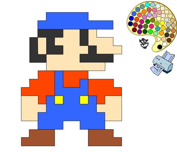 Juego De Pintar A Mario Bros