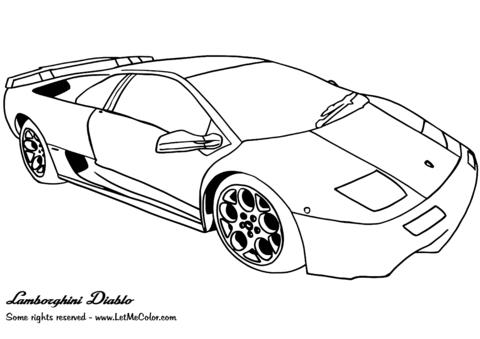 Dibujo De Lamborghini Diablo Para Colorear