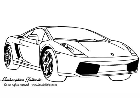 Dibujo De Lamborghini Gallardo Para Colorear