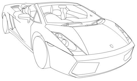 Dibujo De Lamborghini Gallardo Spyder Lp560