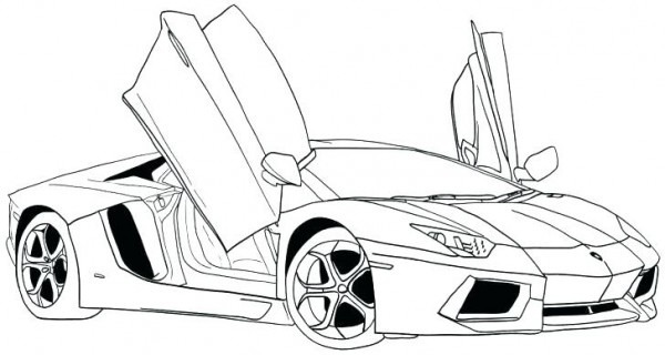 Dibujos De Lamborghini Para Colorear