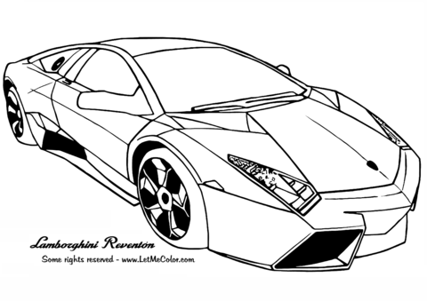 Dibujo De Lamborghini Reventon Para Colorear