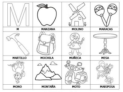 √ Free Laminas Con Dibujos Para Aprender Palabras Y Colorear Con