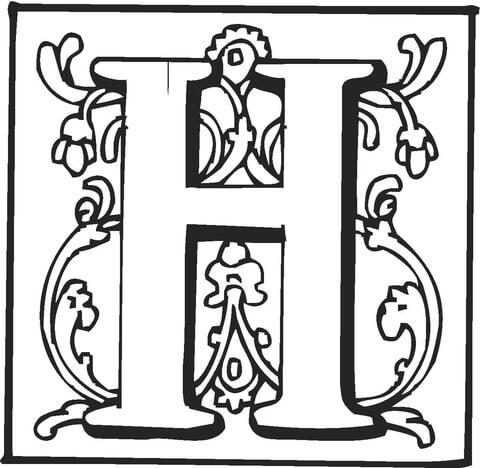 Dibujo De La Letra H Para Colorear