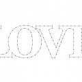Palabra Amor Para Colorear