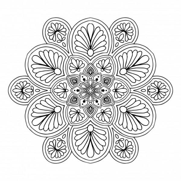 Mandalas Para Colorear Libro  Vector Oriental, Patrones De Terapia