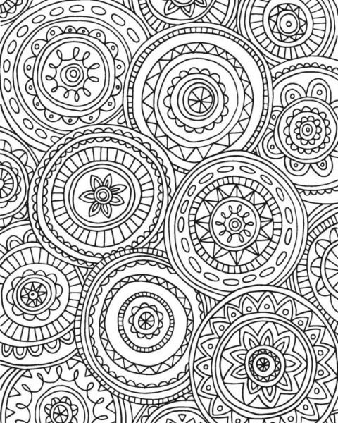 70 Mandalas Y Dibujos Dificiles Para Colorear 【2019】