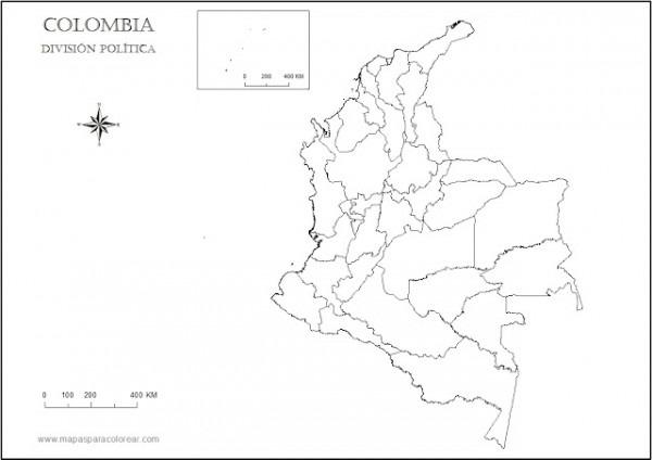 Mapa Politico De Colombia Con Capitales Para Colorear
