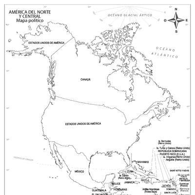 Mapas De América Para Colorear Y Descargar