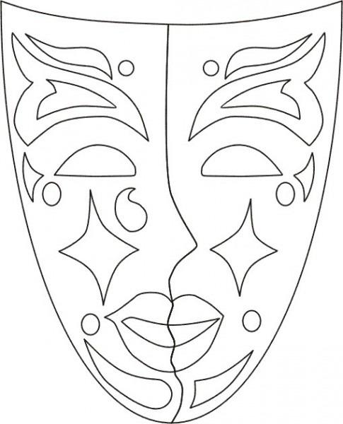 Máscaras De Carnaval Para Imprimir Y Pintar