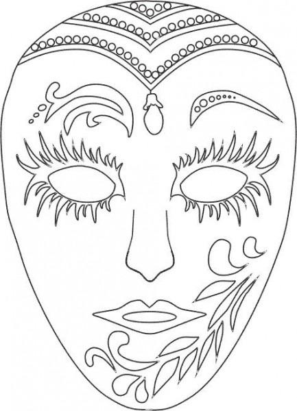 Mascaras De Carnaval Para Colorear