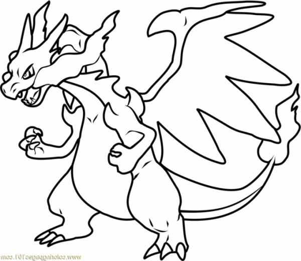 Pokemon Mega Charizard Coloring Pages