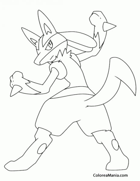 Mega Lucario Coloring Pages At Getdrawings Com