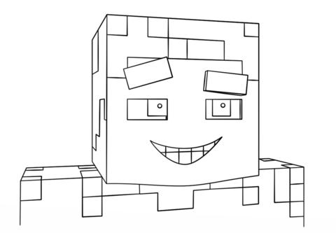 Dibujo De Steve Sonriendo De Minecraft Para Colorear