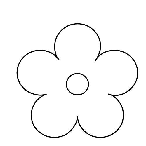 Molde Para Pintar Una Flor