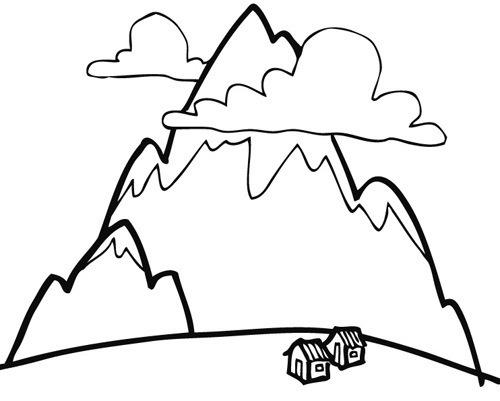 Dibujos De Montañas Para Imprimir Y Pintar