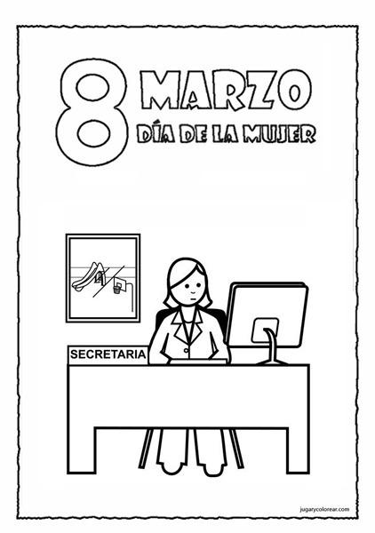 Dibujos Para Colorear  Día De La Mujer Trabajadora