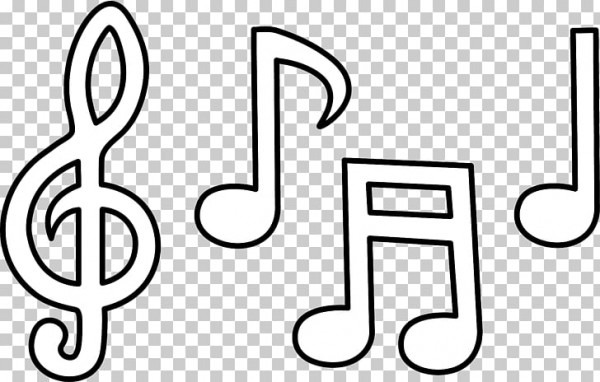 Nota Musical Libro Para Colorear Notación Musical, Clip De Música