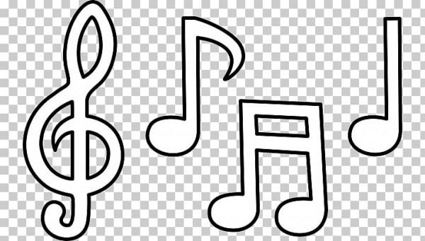 Nota Musical Libro Para Colorear Partitura Dibujo Musical S Png