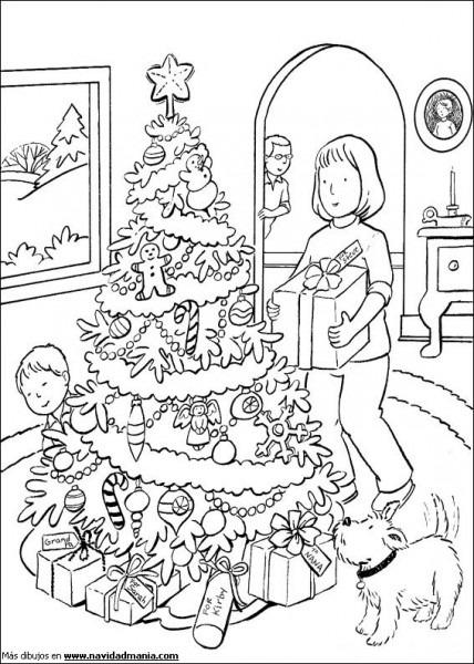 Dibujos Para Pintar De Familias En Navidad