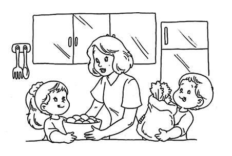 Dibujos De Niños Ayudando A Los Demas