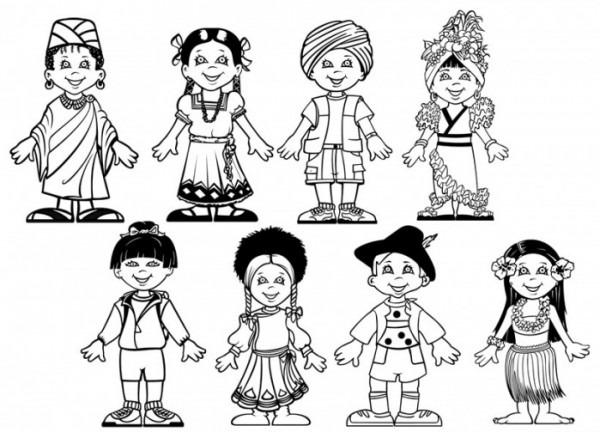 Niños Diferentes Culturas