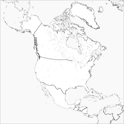 Dibujo De Mapa De América Del Norte Para Colorear