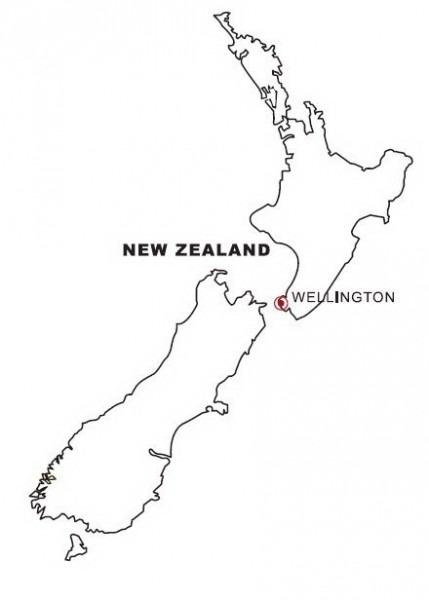 Dibujo Views  Mapa De Nueva Zelanda Para Colorear