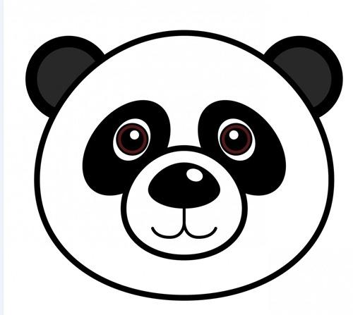 √ Dibujos De Oso Panda Para Colorear E Imprimir