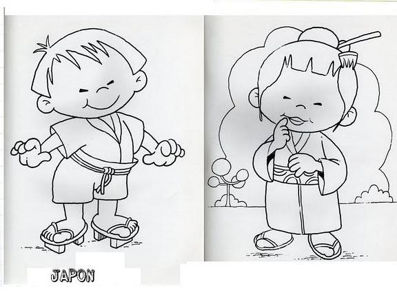 Dibujos De Niños De Diferentes